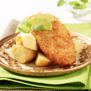 Cheese-Dipped Fried Red Snapper.