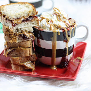 Peanut Butter & Jelly Hot Chocolate.