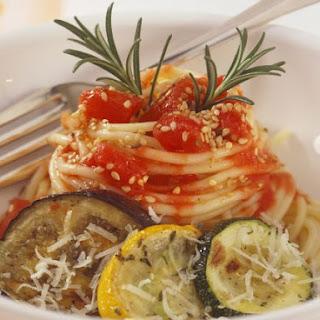Grilled Veggie Spaghetti