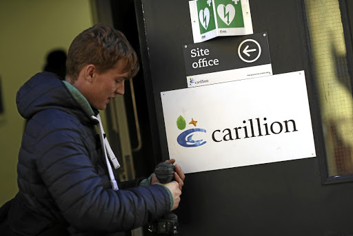 A Carillion construction site in London before the company's collapse. Picture: REUTERS