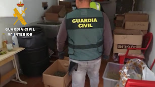 Almacén de droga encontrado por la Guardia Civil en Viator.