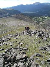 Photo: Climbing the ridge to the pass.