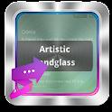 Artistic sandglass GO SMS icon