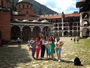 Photo: В двора на Рилския манастир.