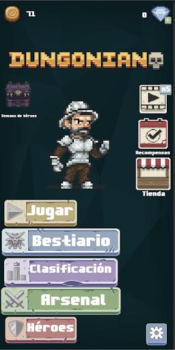 Télécharger Dungonian: Epic card brawler dungeon APK MOD (Astuce) screenshots 1