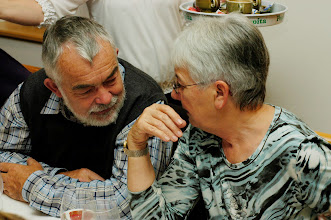Photo: Geheime Besprechung,  Peter und Margrit Siegrist