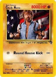 Image result for chuck norris pokemon card
