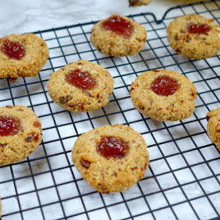 Vegan Oat And Berry Thumbprint Cookies