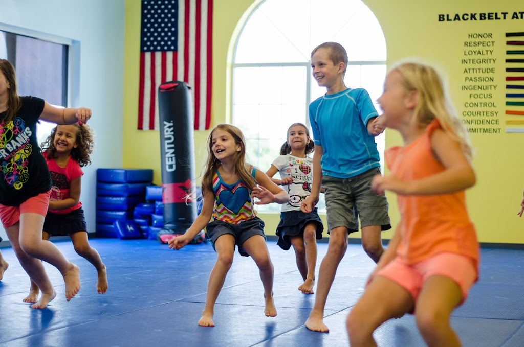 Kids playing games at Super Kicks Karate