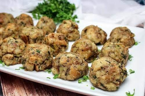 """Savory Stuffing Balls""""I like stuffing but it is not something I would..."""