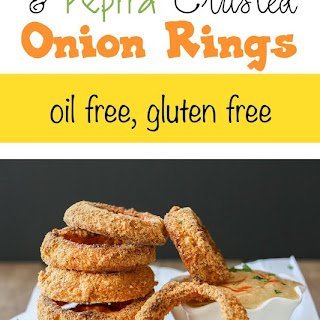 Baked Cornmeal and Pepita Crusted Onion Rings