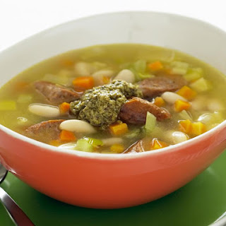 Cannellini Bean, Leek and Sausage Soup.