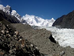 Photo: Passu Glacier at 2900m with Passu peak (7284m)