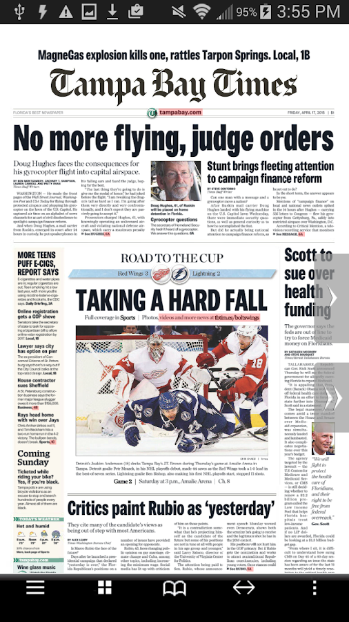 Tampa Bay Times e-newspaper- screenshot