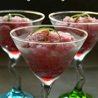 Sloe Gin & Tonic Granita