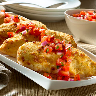 Parmesan-crusted Bruschetta Chicken.