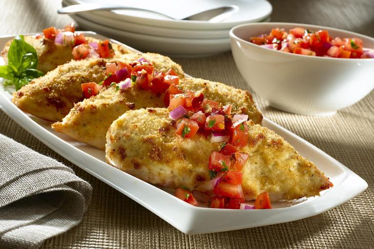 Parmesan-Crusted Bruschetta Chicken Recipe