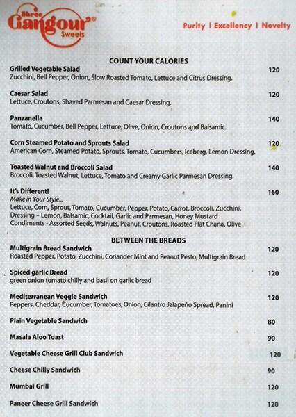 Shree Gangour Sweets menu 2