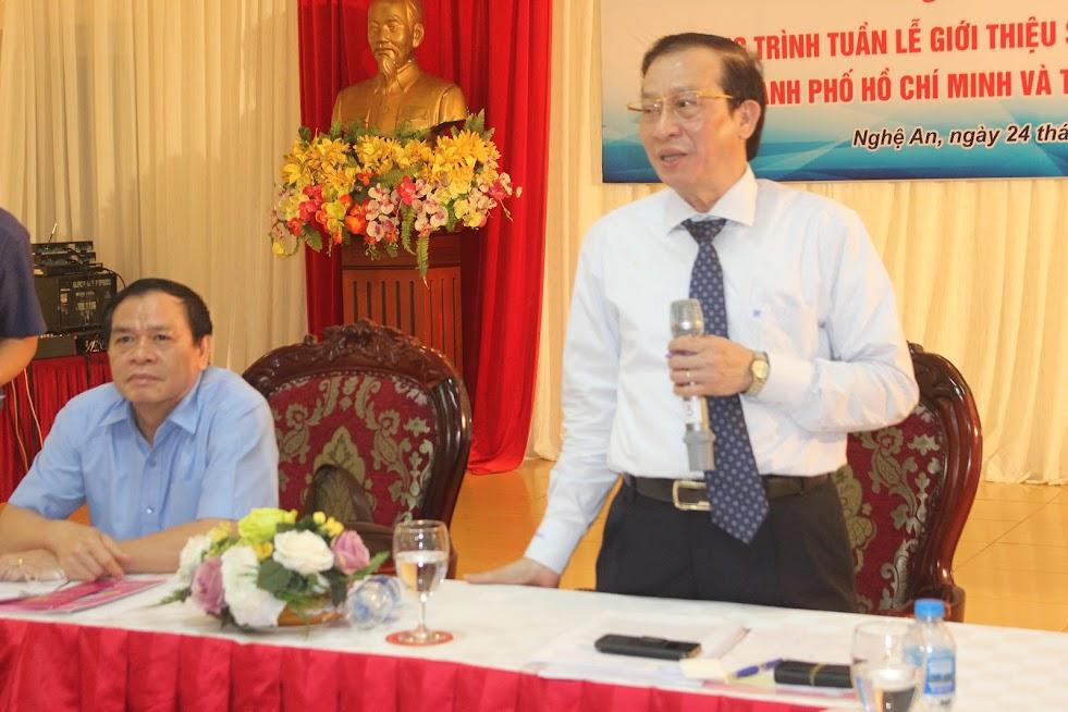 Ông Phạm Thiết Hòa, Giám đốc Trung tâm Xúc tiến thương mại và đầu tư TP Hồ Chí Minh phát biểu tại buổi họp báo