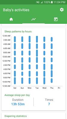 Baby tracker - feeding, sleep and diaper - screenshot
