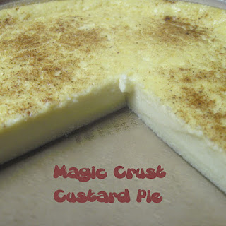 Magic Crust Custard Pie.
