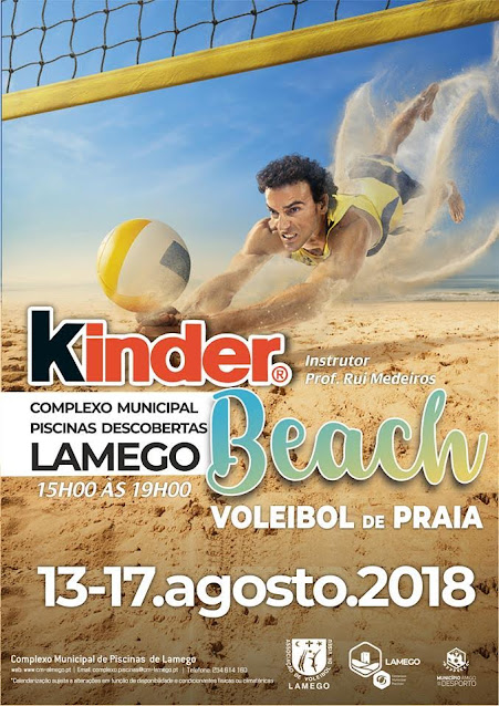 Piscinas Descobertas incentivam à prática de voleibol de praia