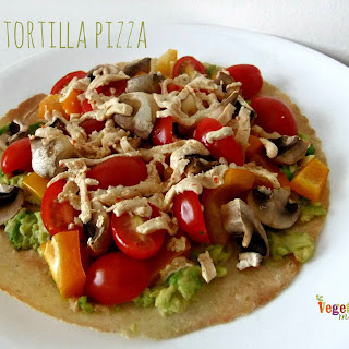Easy Tortilla Pizza – #glutenfree #vegan #singleserve