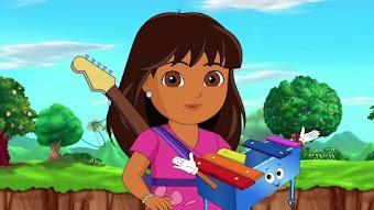Dora au pays des instruments de musique