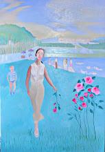 Photo: Versailles, au parc et roses  (150*100 cm) huile sur toile 2003