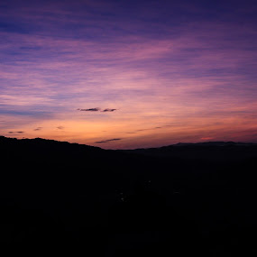 Lovely Sunrise by Lydelter  Bolodin  - Landscapes Sunsets & Sunrises ( blue sky, sunrise, sunrays, golden hour, sunset, hills, hiking, early morning, hike, malaysia, morning )
