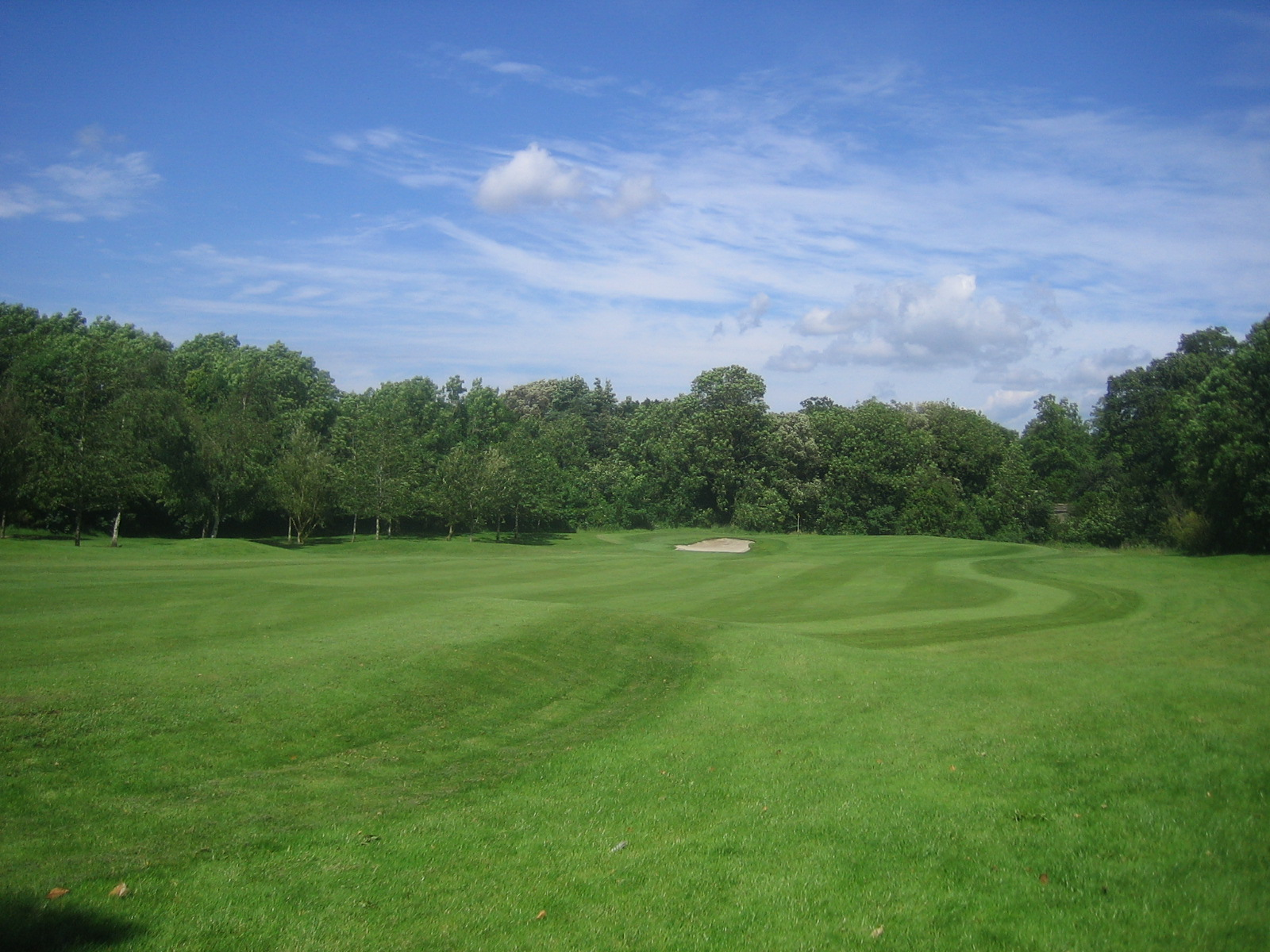 Photo: The 14th Green, Henleaze Golf Course on Coombe Hill. An exposure of the former Henbury Hill Quarry is at the edge of the course left of the green.