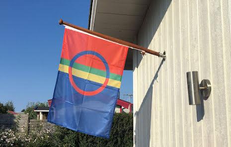 Sameland Flagga Tryckt