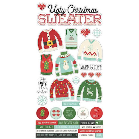 Simple Stories Sticker Sheet 6X12 - Ugly Christmas Sweater