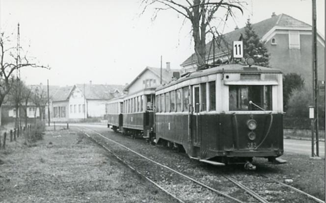 Le tramway à Ensisheim