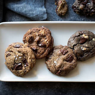 Gluten-Free Chocolate Chip Cookies, with Oat, Buckwheat, Teff, or Mesquite Flour.