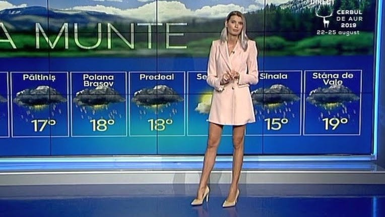 Fashion model doing great as a weather girl