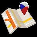 Map of Prague offline icon
