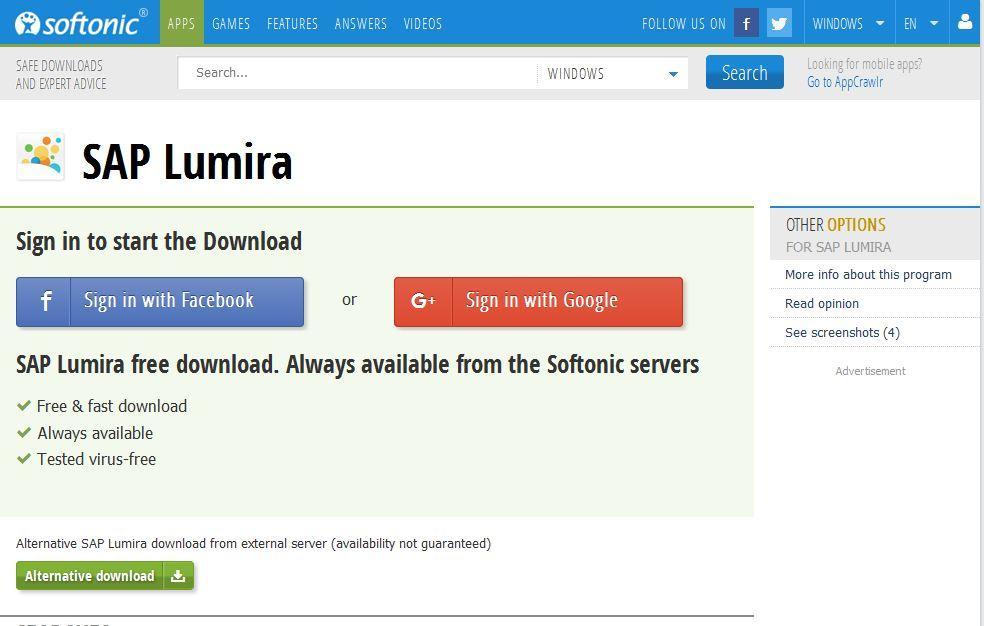 Srinivasan Software Solutions : SAP LUMIRA (Installation
