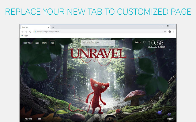 Unravel Wallpapers HD New Tab - freeaddon.com