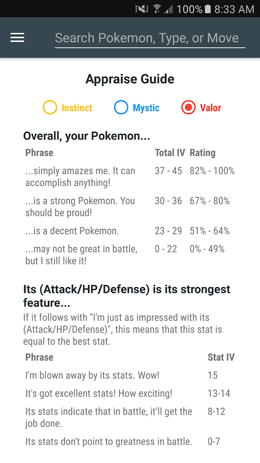 IV & ToolKit for Pokemon Go- screenshot