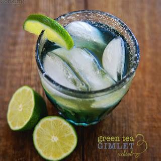Green Tea Gimlet Cocktail.