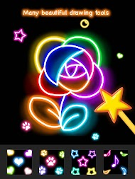 Learn To Draw Glow Flower APK screenshot thumbnail 21