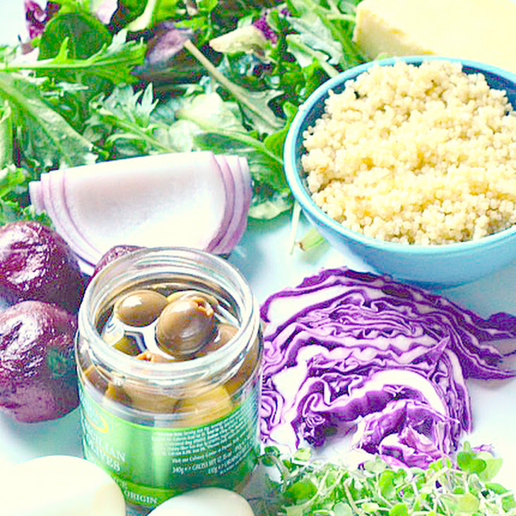 Green Salad with Beets and Quinoa