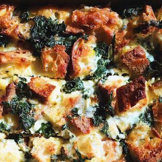 Kale & Cheddar Breakfast Strata