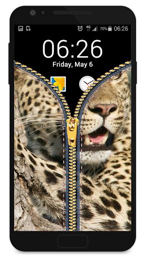 지퍼 잠금 화면 - 표범|玩休閒App免費|玩APPs