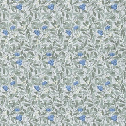 Arbutus Tapet - silver/cobalt