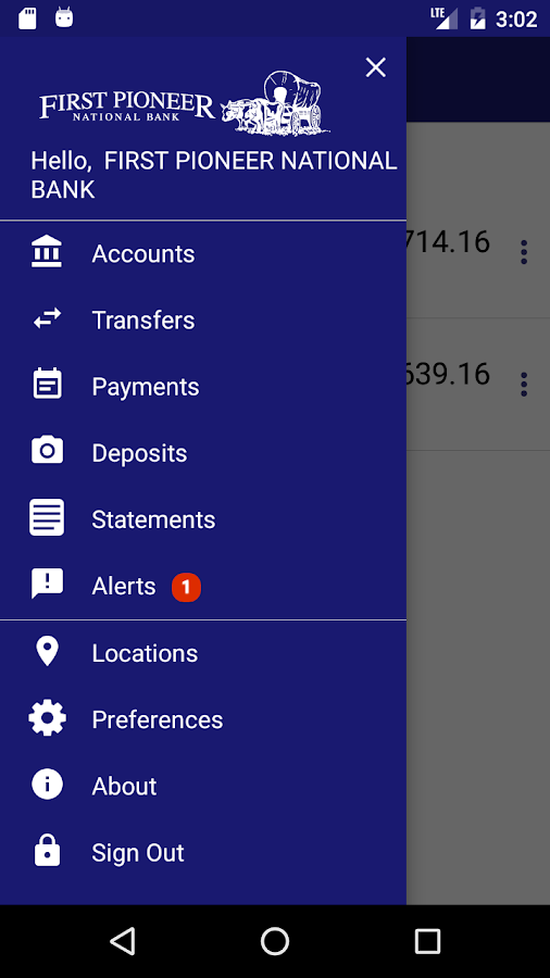 First Pioneer Mobile Banking- screenshot