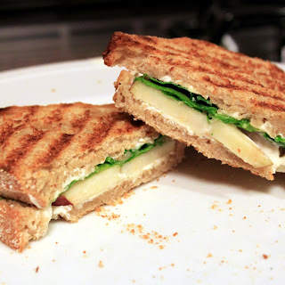 Goat Cheese, Pear and Arugula Paninis