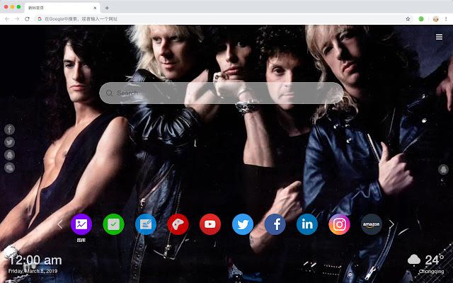 Aerosmith band rock star HD new label theme
