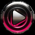 Poweramp skin Raspberry Glow icon